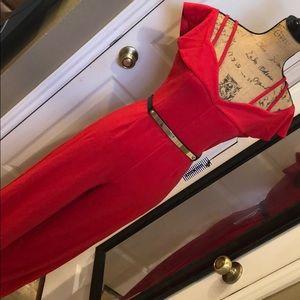 Haute Monde Red Jumpsuit M